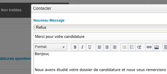 Automatisation des réponses aux candidats